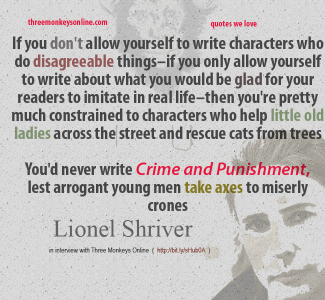 lionel shriver on crime and punishment