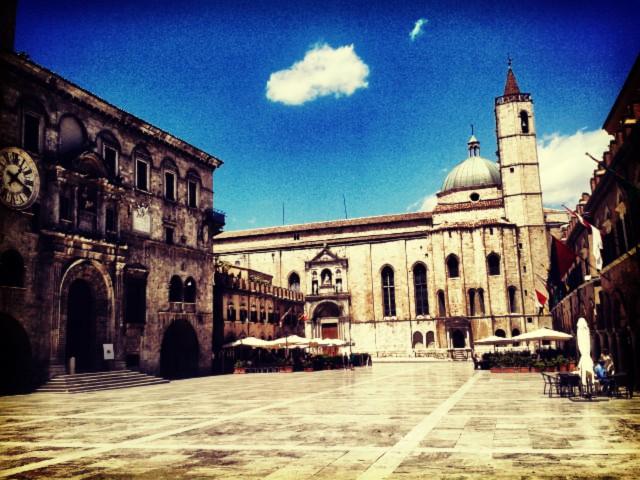 The Piazza del Popolo in Ascoli PIceno