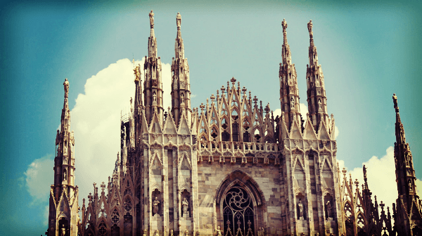 Milano's Duomo - just over an hour from Bologna