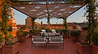 The rooftop terrace of Bologna's Gran Hotel Majestic (gia Baglioni)