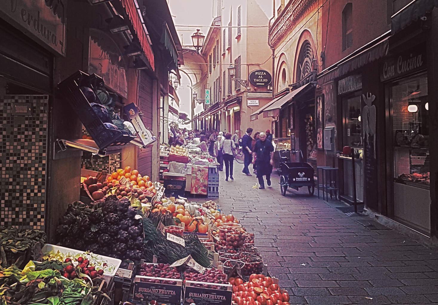 Bologna's Quadrilatero Market