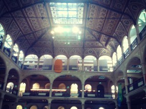 Bologna's Sala Borsa - an interior view