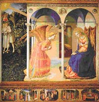 Fra Angelico, Annunciation, 1430-32, Madrid: Prado.