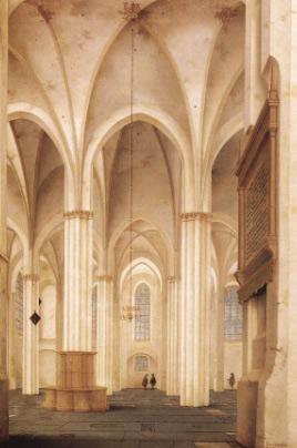 Saenredam's The Buurkerk at Utrecht (1654)