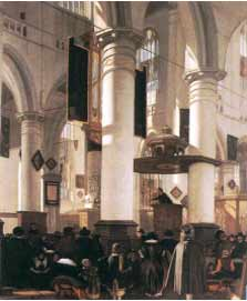 Emanuel De Witt's Interior of a church (1660)